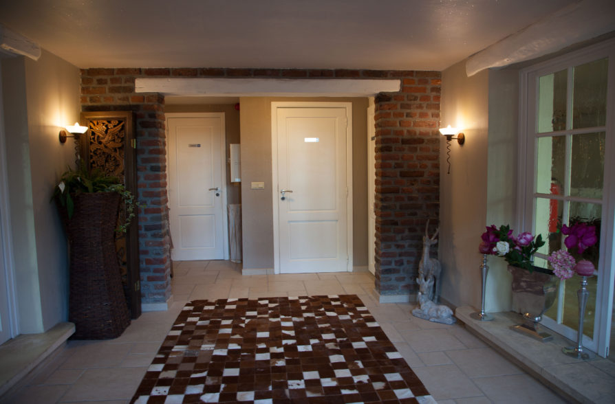 The Entrance Hall with cloakroom and toilet
